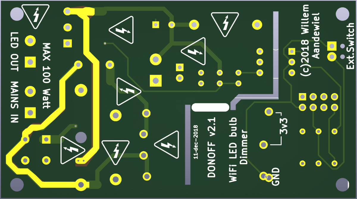 DONOFF – WiFi enabled light dimmer (Part 4) | Willem's Website